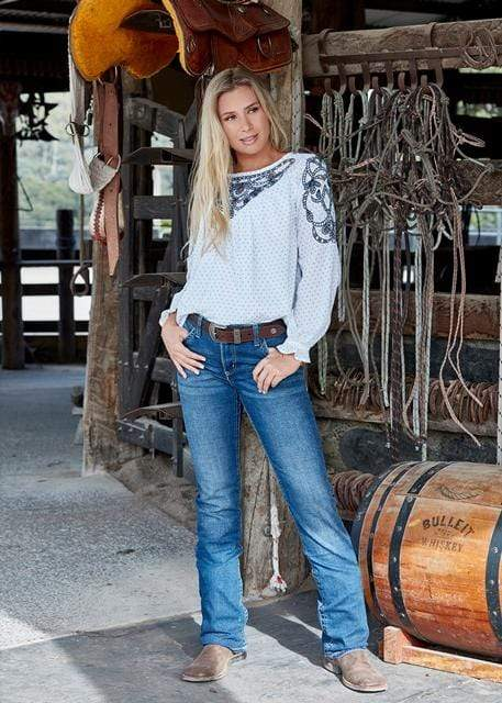 Wrangler Womens Taylor Blouse X0S2597569 - Gympie Saddleworld & Country Clothing