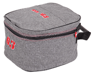 Zilco Gear Bags / Luggage Zilco Heritage Helmet Bag Grey/Red 101212