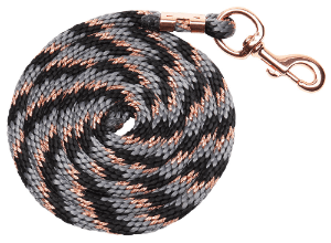 Zilco Braided Black/ Grey and Rose Gold (545751) - Gympie Saddleworld & Country Clothing