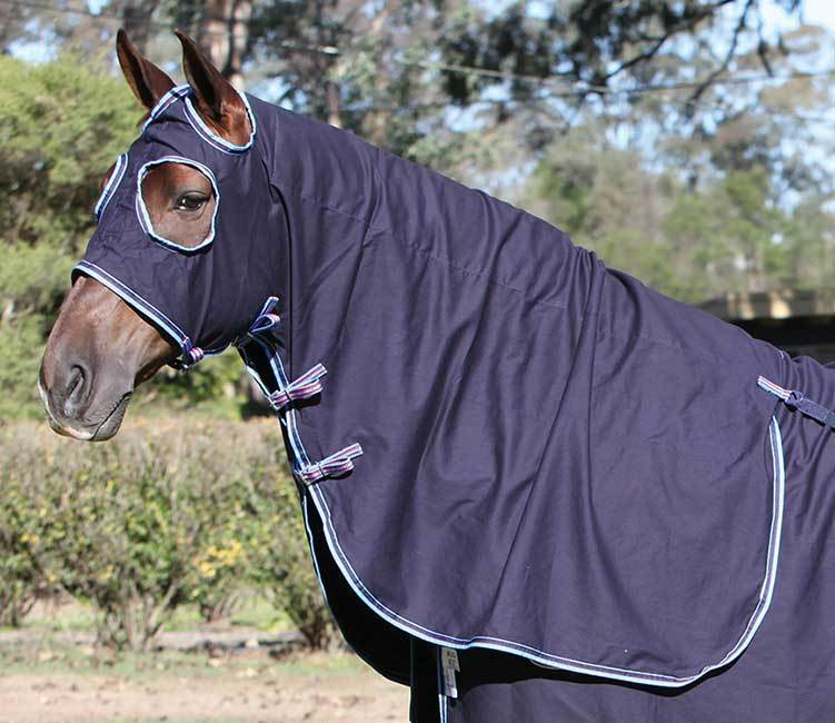 Zilco Defender Cotton Hood Navy - Gympie Saddleworld & Country Clothing