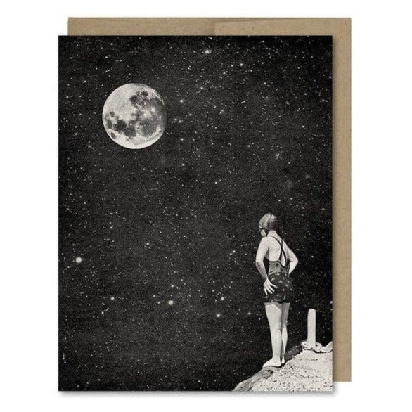 Spacewoman & The Pier Into Space Card