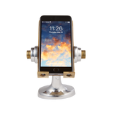 "The perfect space gift! A steampunk retro space phone stand from Pendulux called ""Apollo""."