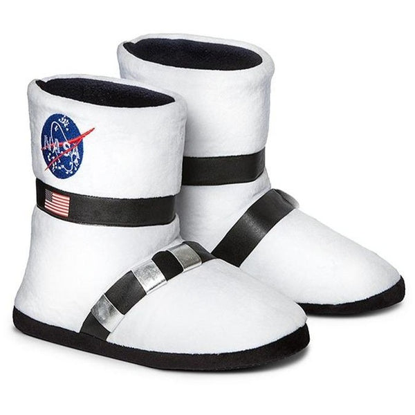 NASA slippers for adults that look like astronaut boots