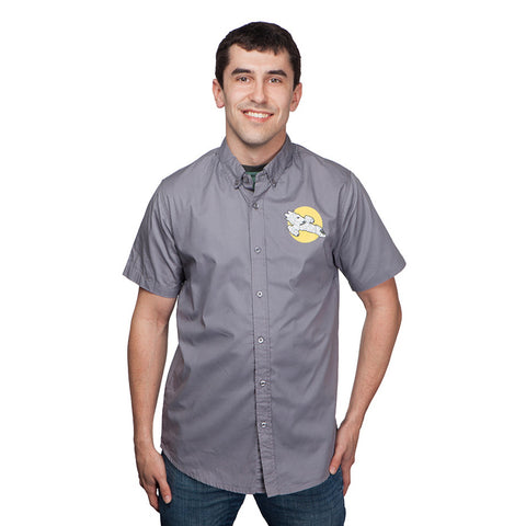 Firefly shirt for men. Gray with emblem.