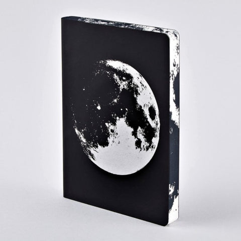 Leather Moon notebook! Designer space gift by Nuuna Notebooks
