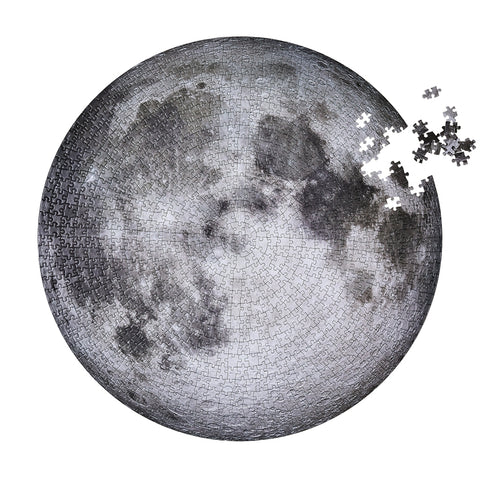 moon puzzle from Four Point Puzzles with 1000 pc round design. A space gift for space enthusiasts!