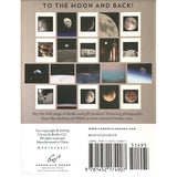 Back of box of Moon greeting cards set featuring 20 different photos from the archives of NASA! By Chronicle Books.