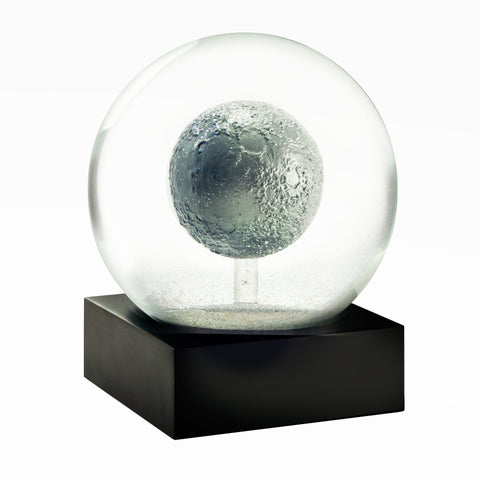 Moon snow globe made of glass with a 3D moon inside! A gift for space lovers!