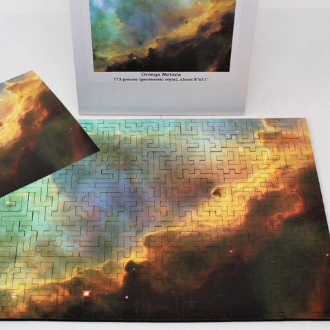 Wooden space puzzle showing the Omega Nebula!