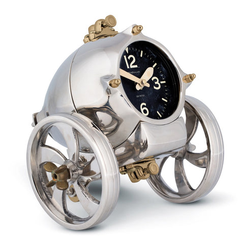 Mars rover clock by Pendulux! Retro space age clock with wheels.