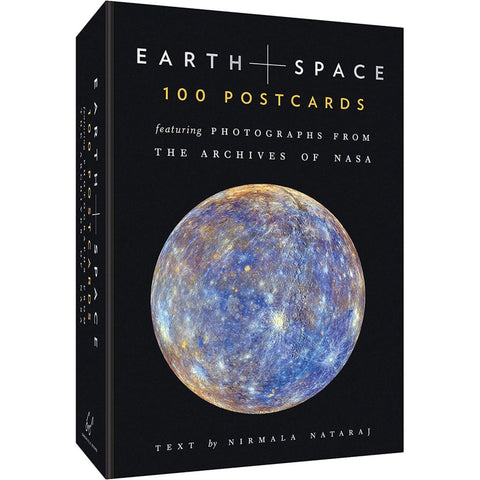 Front of Box of 100 Earth and Space Postcard Set with photos from NASA, by Chronicle Books