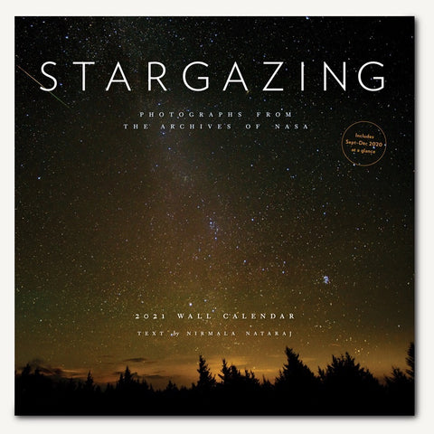 "Front of Space Calendar 2021 called ""Stargazing"""