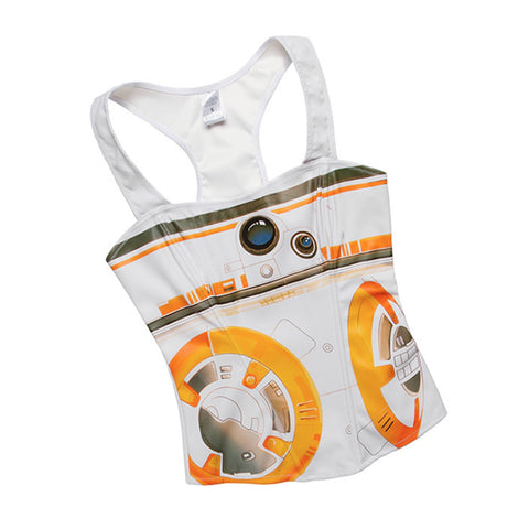 Star Wars tank top with BB8 print! Star Wars costume cosplay corset top.