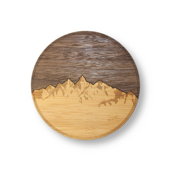 Sky & Mountains Wooden Coasters 4-Pack
