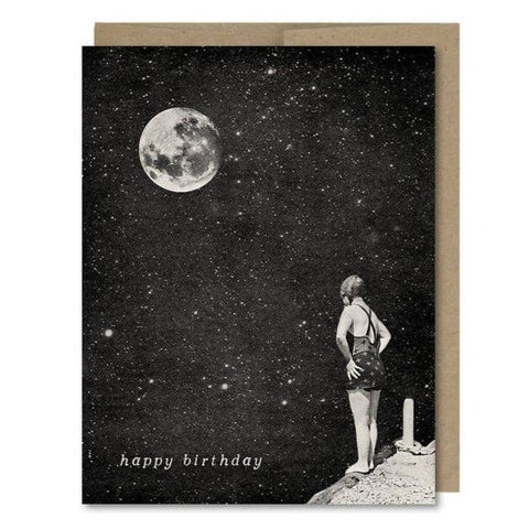 Happy Birthday Spacewoman & The Pier Into Space Card