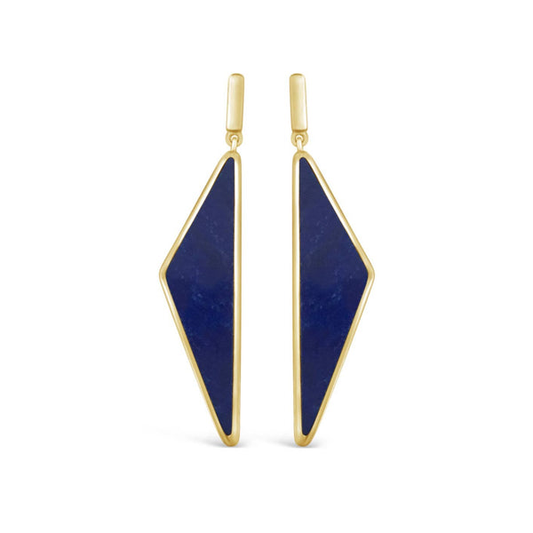 triangle gold space earrings twilight geometric