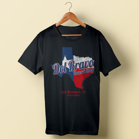 Del Bravo-Texas Map (Black)