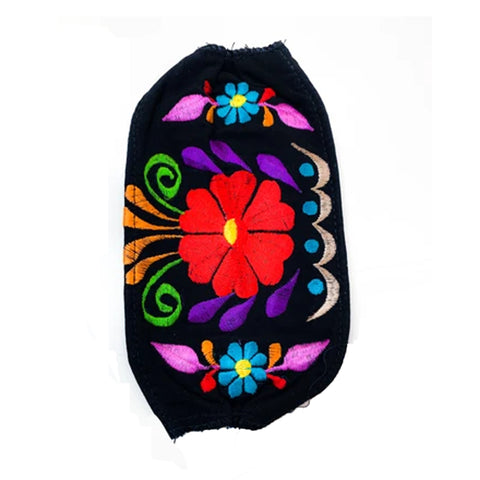 Carnation Flower Embroidered Mask