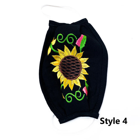 Single Sunflower Mask