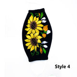 Double Sunflower Embroidered Mask