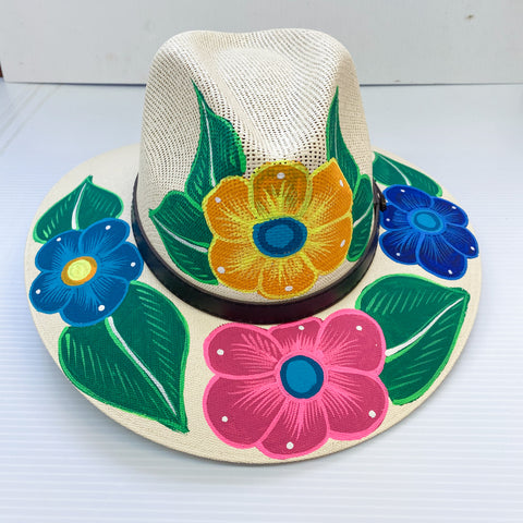 Floral Painted Hats