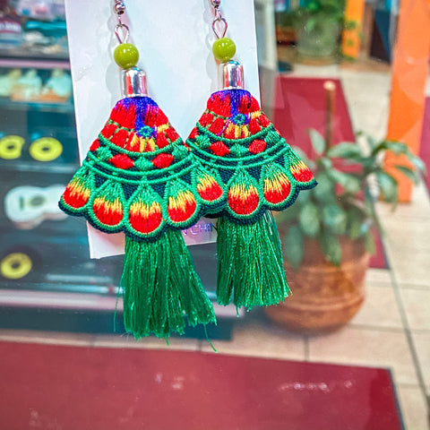 Fiesta Earrings - Green