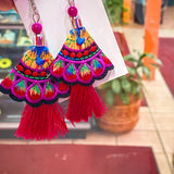 Fiesta Earrings - Hot Pink