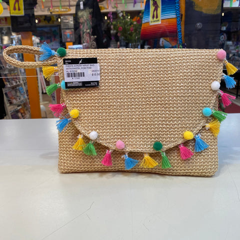 Fiesta Straw Wrist Bag