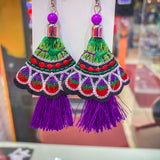 Fiesta Earrings - Purple