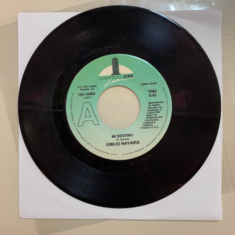 "Emilio Navaira - ""Mi Destiny"" / ""South of the Border"" (45 RPM"""