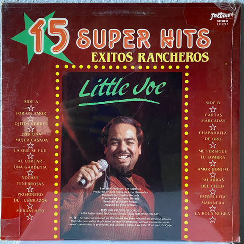 Little Joe - 15 Super Hits Exitos Racheros (Vinyl)