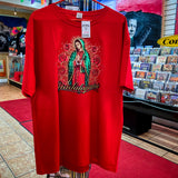 Virgen De Guadalupe T Shirt - Red