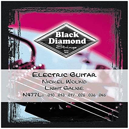 Black Diamond Electric Guitar Black Coated Nickel Wound, .010 - .046, N477L