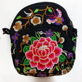 Embroidered Floral Cross Bag