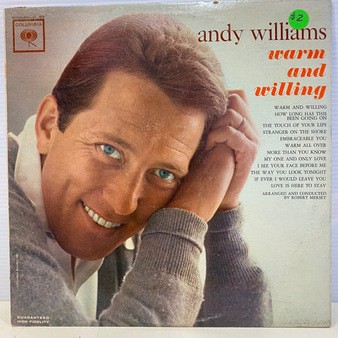 Andy Williams - Warm and Willing  (Vinyl)