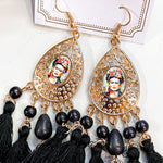 Frida Kahlo Earrings - Black