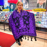 Frida Kahlo Poncho- Purple