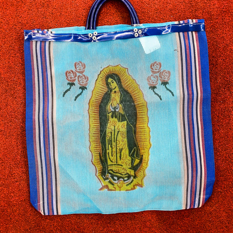 Virgen De Guadalupe Bag - Blue