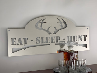 Stainless Steel Eat Sleep Hunt