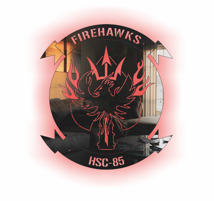 HSC-85 LED Firehawks Stainless Steel Sign