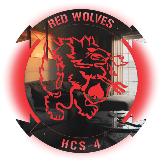 HSC-4 LED Redwolves Stainless Steel Sign