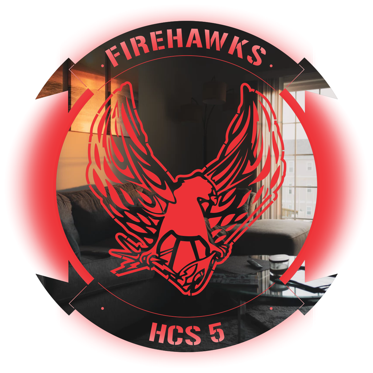HSC-5 LED Firehawks Stainless Steel Sign