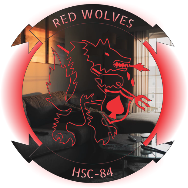 HSC-84 LED Redwolves Stainless Steel Sign