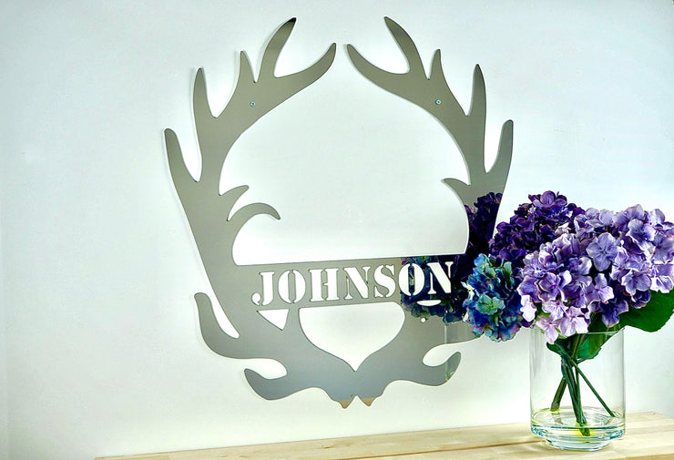 Stainless Steel Custom Monogram - Antler
