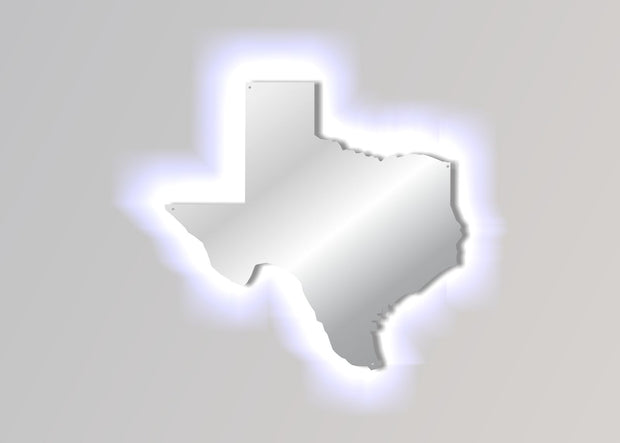 Lighted LED Stainless Steel Texas Map Sign