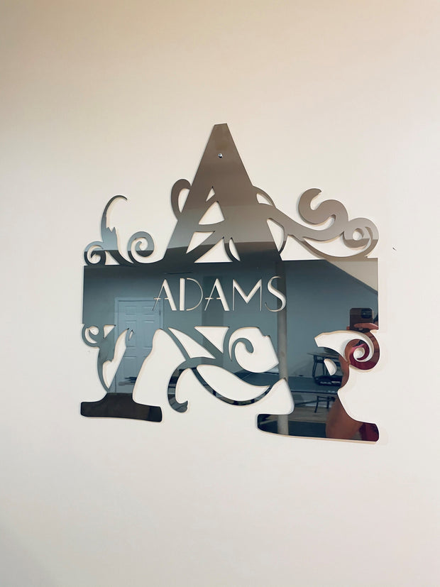 Stainless Steel Custom Monogram - Fancy