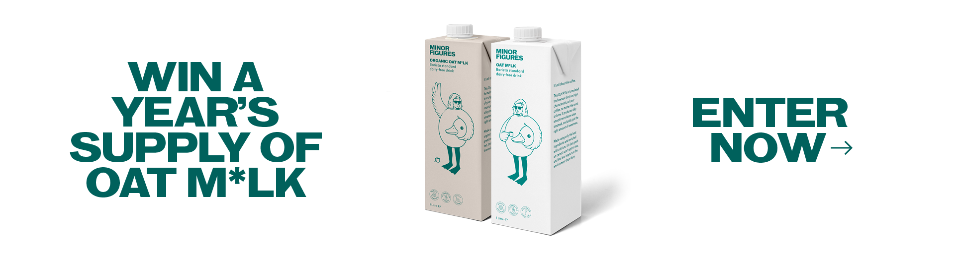 Win a Year's Suppy of Oat Milk - Enter Now