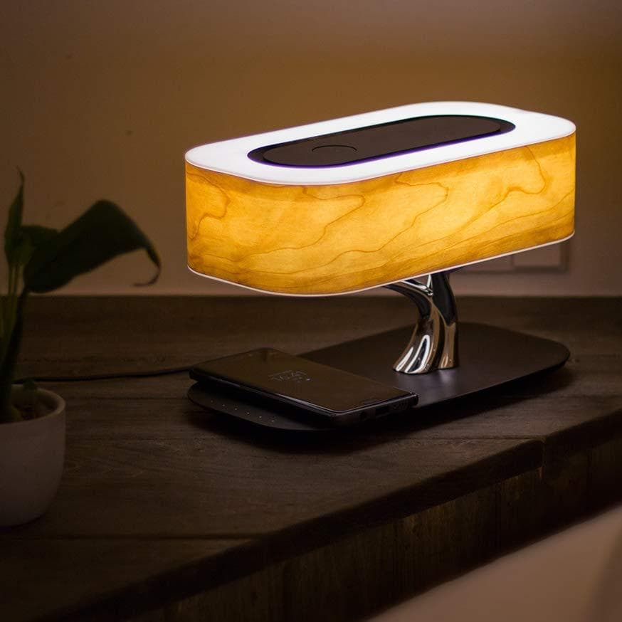Modern Tree Lamp 3-1 With Bluetooth Speaker & Phone Wireless Charger