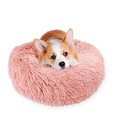 Pet Calming Bed For Dogs and Cats Anti Anxiety Comforting Plush and Cuddle