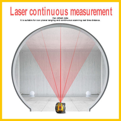 Measurement Ruler + Self-Locking Laser Rangefinder